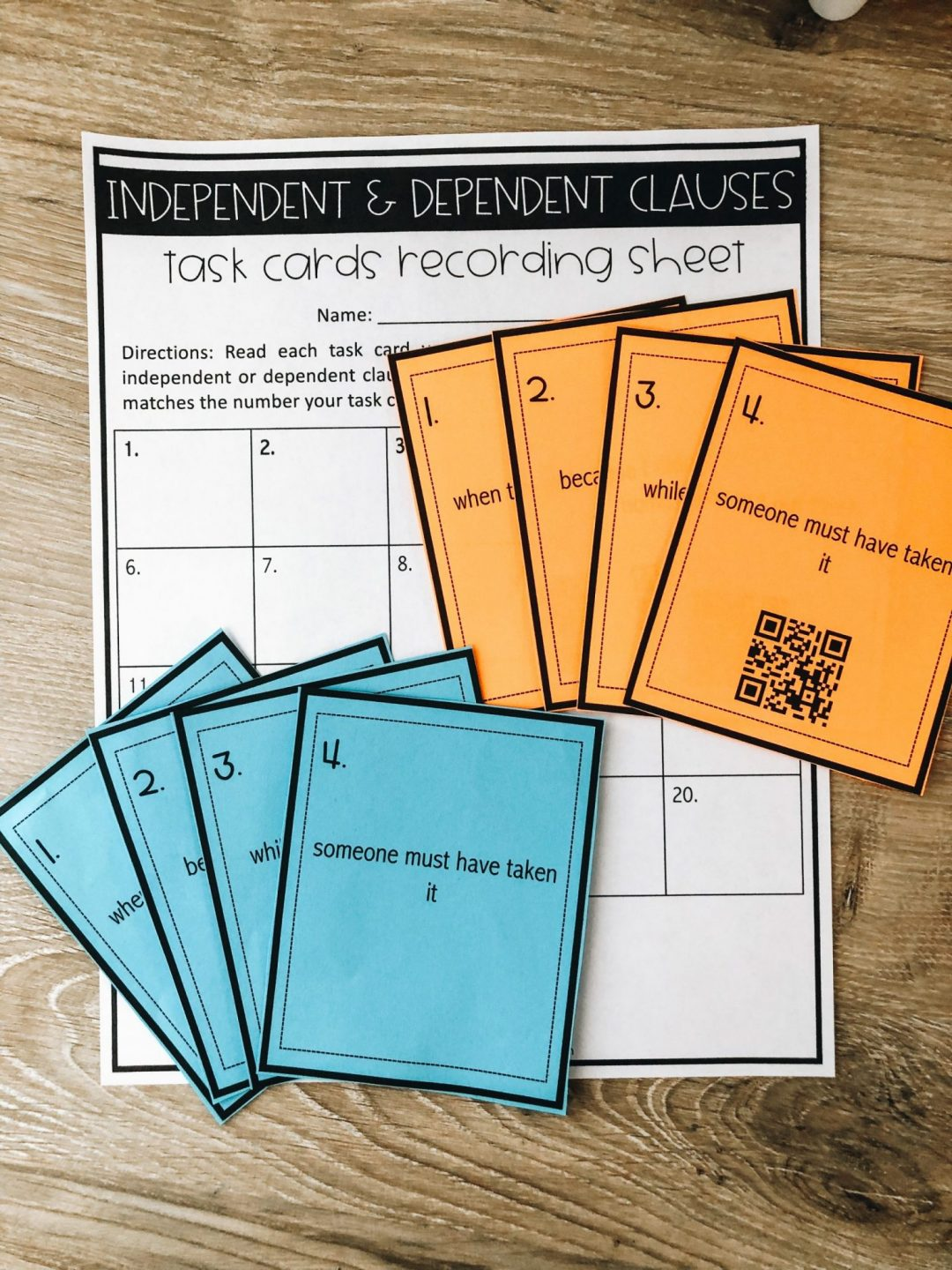 """Use these task cards to play a """"scoot game"""". The optional QR code set makes for quick assessment!"""