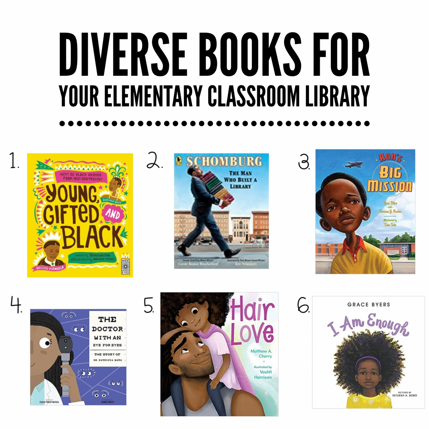 diverse books for your elementary classroom library