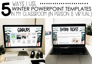 5 Ways I use Winter Powerpoint Backgrounds