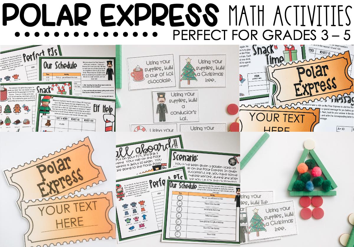 Polar Express Math Activities