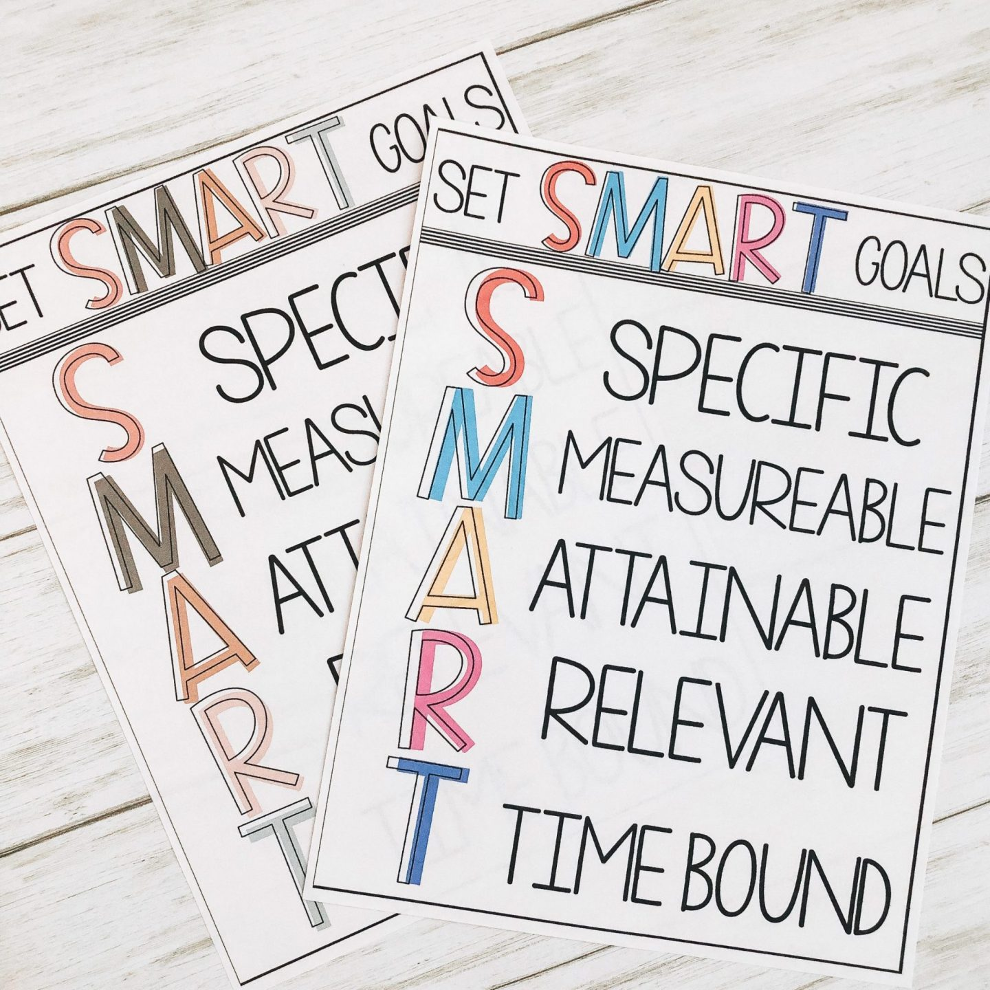 student smart goals examples of posters