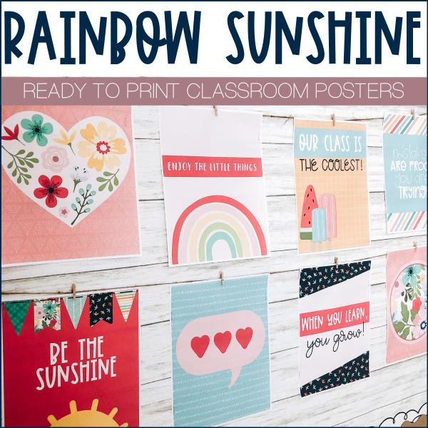 Rainbow Classroom Posters