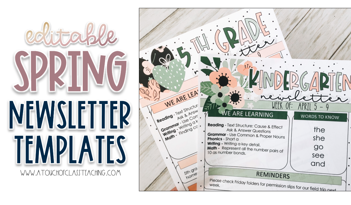 spring classroom tools example - spring newsletter templates