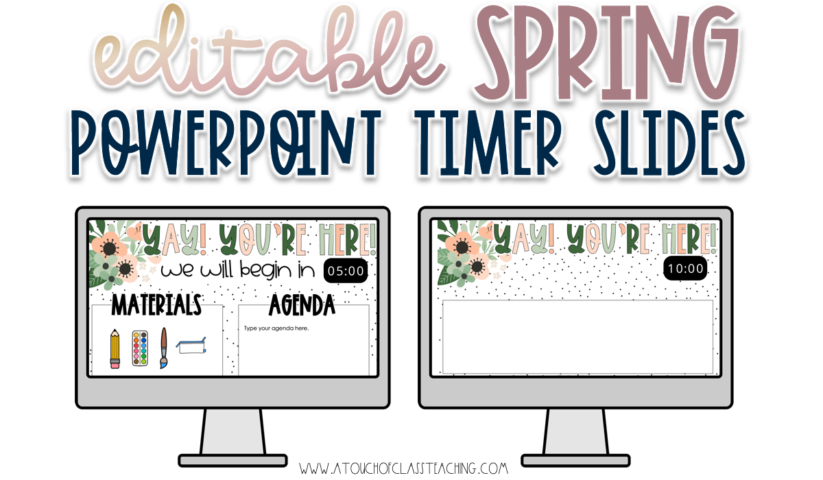 An example of spring classroom tools - spring powerpoint templates