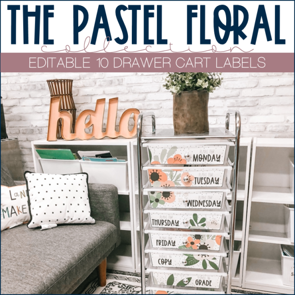 Photo of 10 drawer cart labels
