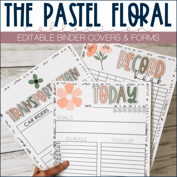 Example of binder covers template