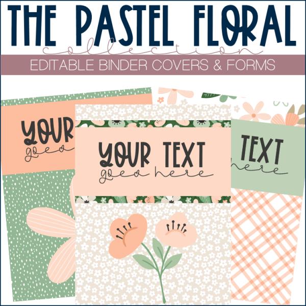 Screenshot of binder covers template