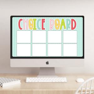 googe slides templates for teachers choice board