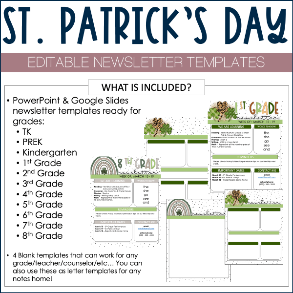 March Newsletter Template Example
