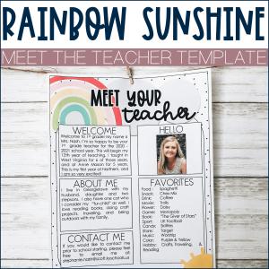 Meet the teacher example