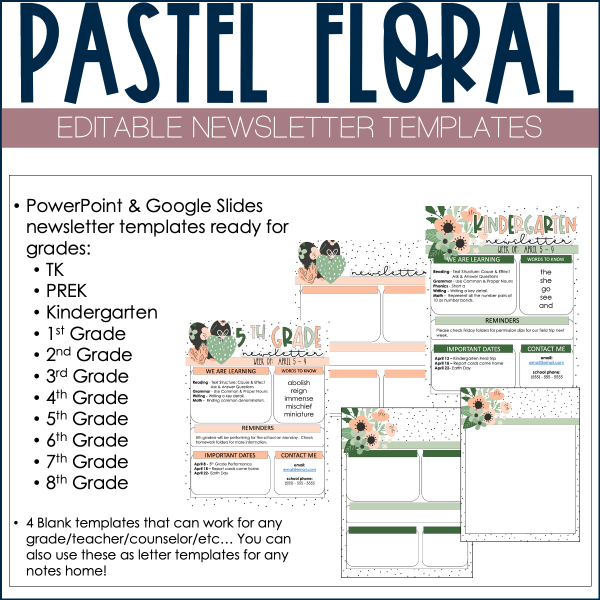 Example of newsletter templates
