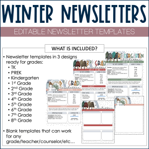 winter newsletter template example