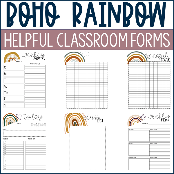 Helpful Classroom Forms