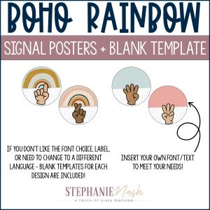 Boho Rainbow Signal Posters