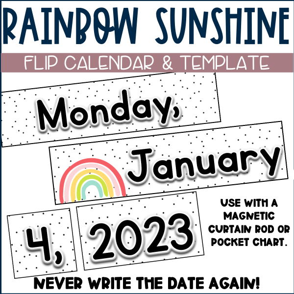 Rainbow Flip Calendar