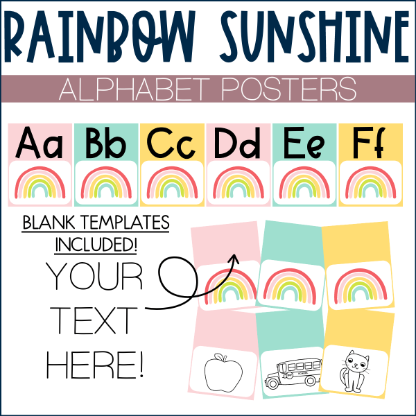 Rainbow Sunshine Posters Cover