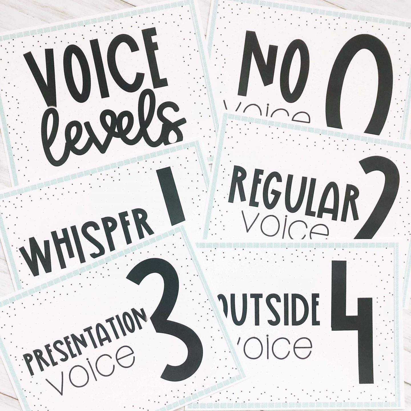 Voice Level Posters to use as one of your activities on the first day of school in the classroom.