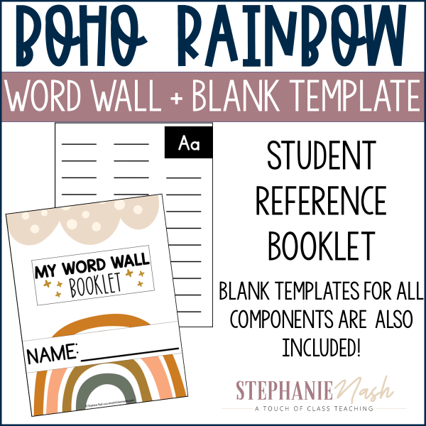 Student Word Wall booket