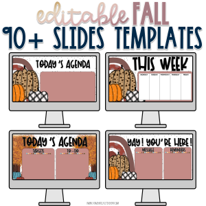 Fall Slides Templates Cover
