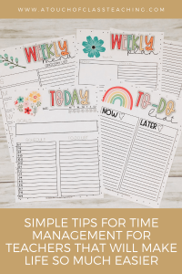 Simple tips for time management for teachers