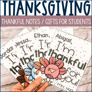 Thanksgiving gift for students