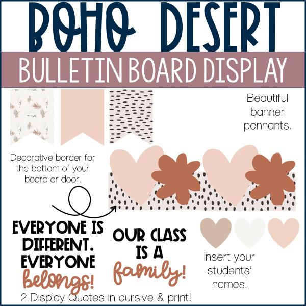boho bulletin display example