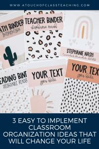 Classroom organization ideas - 3 easy ways to implement classroom organization.