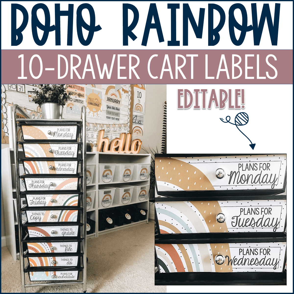 The 10 drawer cart is a fantastic way to keep your classroom organized this school year.