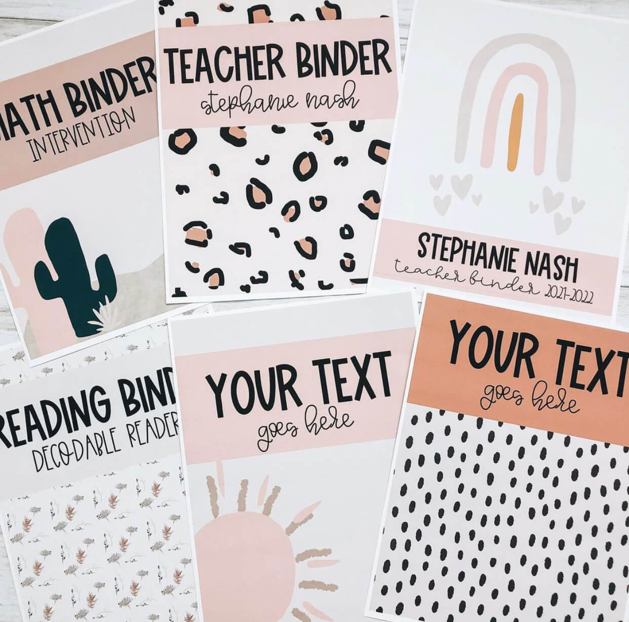 Binder labels are a great classroom organization idea to keep your materials in order.