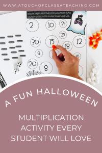 Halloween Math facts activity for upper grades.