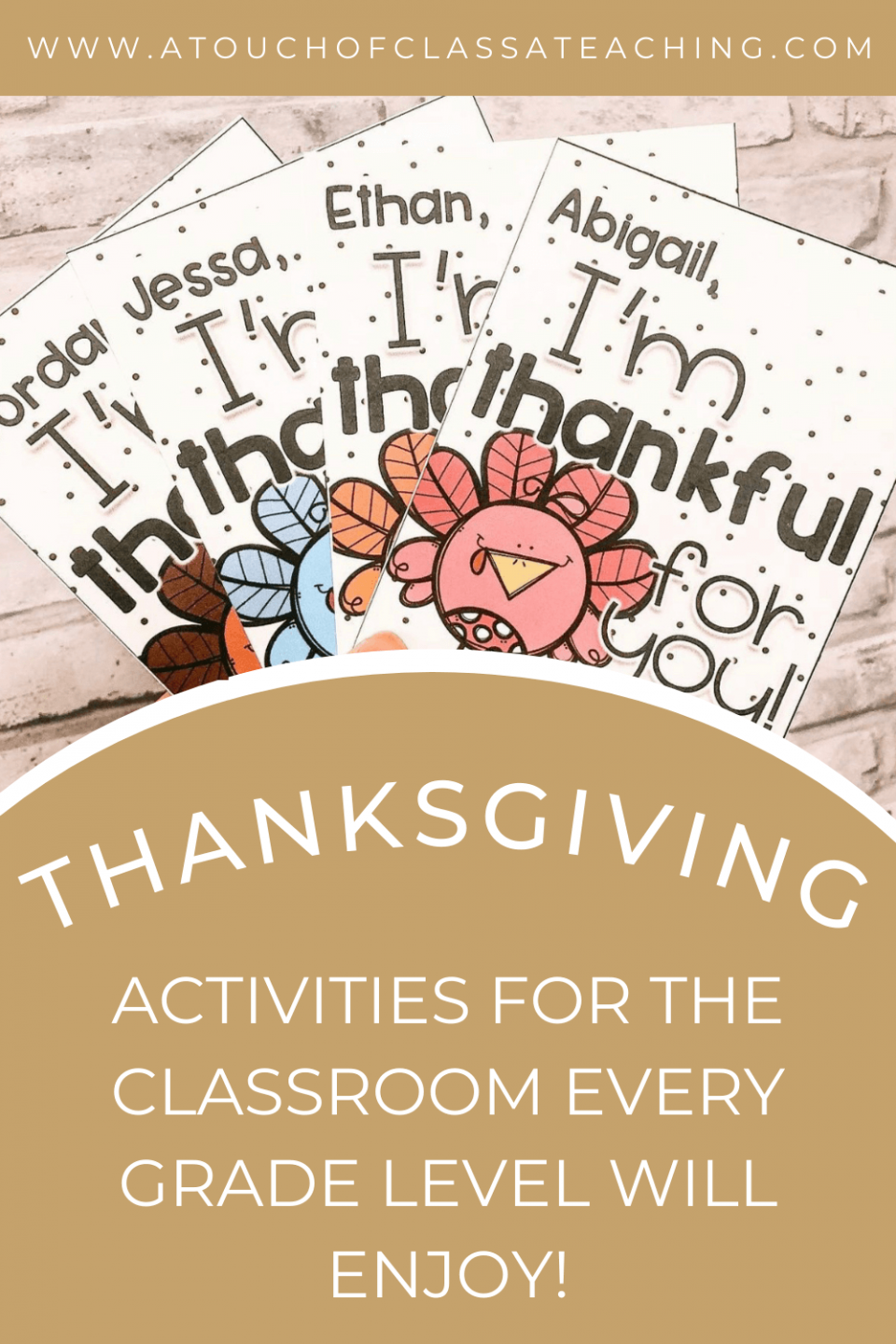 Thanksgiving Activities for the classroom that every grade level will enjoy.