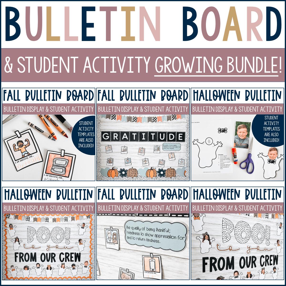 Bulletin board display bundle for all seasons