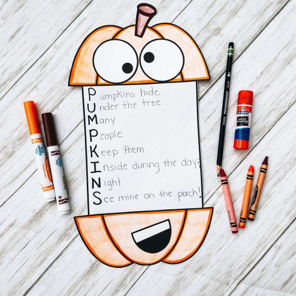 Example of finished pumpkin craft