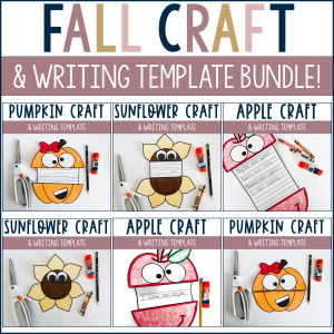 Fall craft and writing template bundle