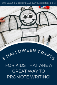 Halloween Crafts for Kids that Promote Writing