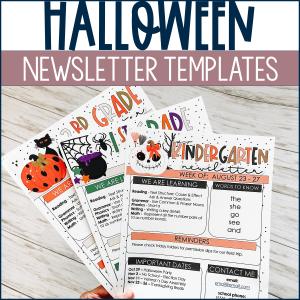 Halloween Newsletters